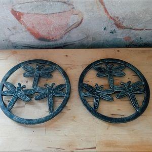 Dragonfly Cast Iron Hot Pot Holder / Trivet